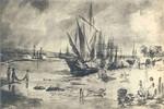 Carol Papp de Szathmary - Portul Giurgiu