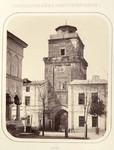 Carol Papp de Szathmary - Albumul Romania, turnul Coltei fotografiat din curtea bisericii
